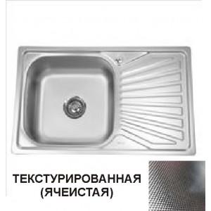 20437 Мойка прямоугольная 780х480х0,8/180мм универсальная 1 чаша  ДЕКОР
