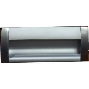 1308 Ручка врезная алюминий/матовый хром 96мм