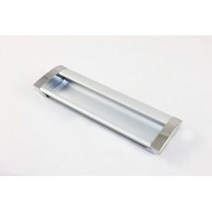 1636 Ручка врезная алюминий/хром 160мм