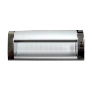 1637 Ручка врезная алюминий/хром 96мм