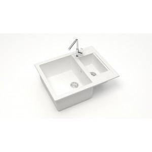 13204 Мойка матовая Модель 19/Q1 (белый лёд)  карельский камень  Карельский камень