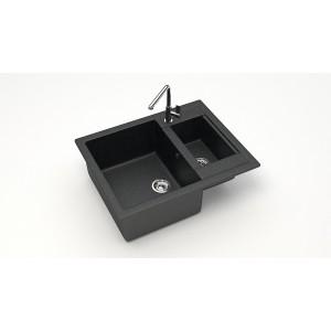 13205 Мойка матовая Модель 19/Q4 (черная) Карельский камень
