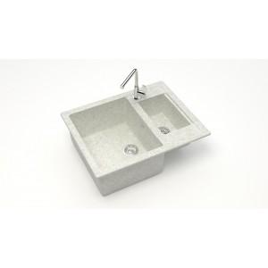 13221 Мойка матовая Модель 19/Q15 (белый гранит) Карельский камень