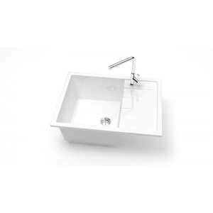 13195 Мойка глянцевая Катрин Z151Q1 (белый лёд)  Granit MARRBAXX