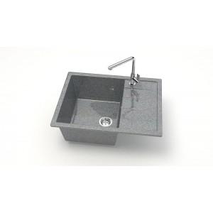 13316 Мойка глянцевый Катрин Z151Q8 (темно-серый)  Granit MARRBAXX