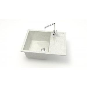 13319 Мойка глянцевая Катрин Z151Q15 (белый гранит)  Granit MARRBAXX