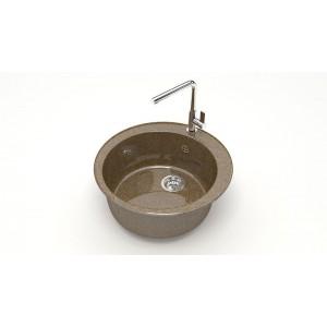 13320 Мойка глянцевая Браун Z510Q9 (терракот)  Granit MARRBAXX