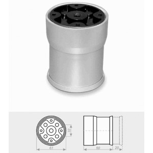 1212 Опора регулируемая №4 (д56/61,Н60) пластик металлик