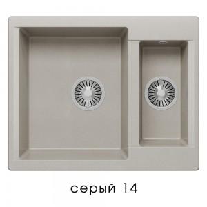8499 Мойка Polygran BRIG-620 №14 (Серый)