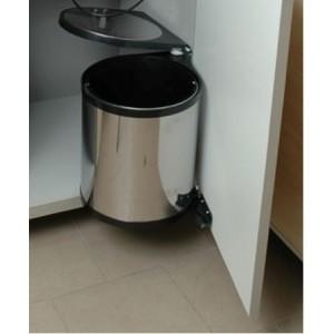 1522 Ведро кухонное хром S-2251 365х300х320