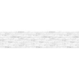 "Панель CPL ""Кирпич Гранж"" белый 3050*610*6"