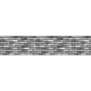 "Панель CPL ""Кирпич Гранж"" серый 3050*610*6"